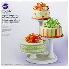 tier cake stand wilton 3 tier pillar cake stand