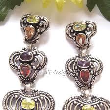 dangler earrings buy designer gemstone multi gem silver dangler earrings