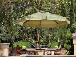 Offset Patio Umbrella Cover Treasure Garden Cantilever Aluminum 11 Crank Lift And Tilt Offset