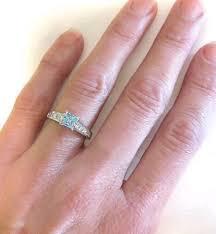 aquamarine diamond ring princess cut aquamarine ring in 14k gr 1109 ws