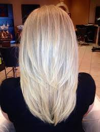 shoulder length hair with layers at bottom her medium length cut with v layers is super flattering style