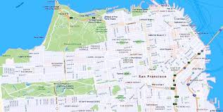 san francisco on map maps of the city san francisco travelers guide
