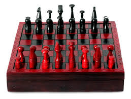unique chess pieces handcrafted african wood and leather chess set u2013 chess boutique