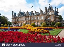 waddesdon manor house and gardens buckinghamshire england stock