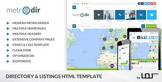 web templates website templates directory listing website theme yellow pages templates from themeforest