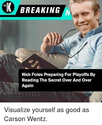 Nick Foles Meme - the breaking nick foles preparing for playoffs by reading the