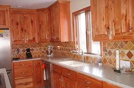 Rustic Hickory Kitchen Cabinets Wood Type For Cabinets