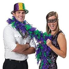 mardi gras feather boas mardi gras feather boa clothing
