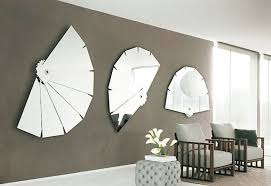 home interior mirror decorations modern interior living room furniture feature three