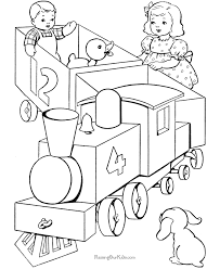 toy train coloring pages 012