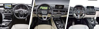 2009 audi a4 vs bmw 3 series audi a4 vs mercedes c class bmw 3 series carwow