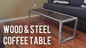 Diy Wooden Coffee Table Diy Modern Coffee Table Wood U0026 Steel Youtube