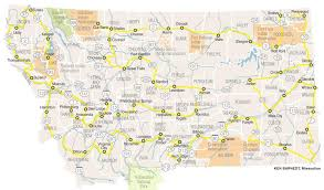 Map Montana Map Of Route Including Every County Seat In Montana Missoulian Com