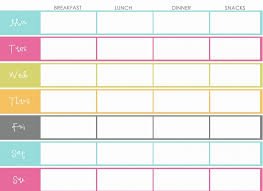 the design pages free printable meal planners organizing