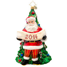 dated 2014 ornaments