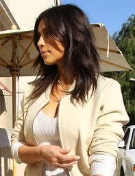 lob shag hairstyles do you like kim kardashian s shaggy new layered haircut lob