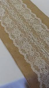 ivory lace table runner amazon com burlap lace table runner ivory lace 12x96 inches