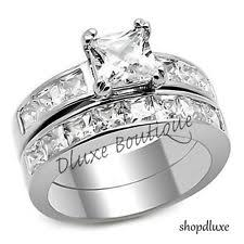 stainless steel wedding bands stainless steel wedding ring set ebay