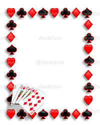 printable playing card border use the border in microsoft word or