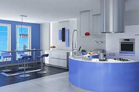 kitchen interior dining room sparkling modern futuristic design