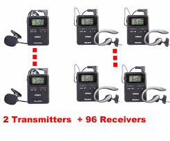 tour guide headset system exmax 815 823mhz wireless tour guide system with carring case not