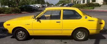 original toyota corolla ca 1976 toyota corolla coupe 1 owner original title no
