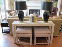 Sofa Table With Stools Wooden Based Sofa Table With Stools Ideas Modern Sofa Table With