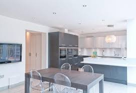 light grey acrylic kitchen cabinets anthracite ash effect light grey gloss acrylic kitchen