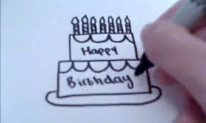 how to draw a cartoon birthday cake youtube