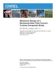 structural design of a horizontal axis tidal current turbine
