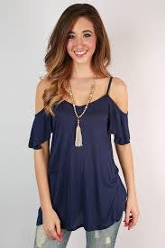 cold shoulder tops the cold shoulder top in navy cold shoulder shoulder and navy