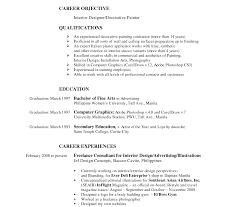sle designer resume resume frightening interiorigner template top home work