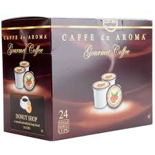 Compression Baby Gate Caffe De Aroma Donut Blend Coffee Single Serve Cups 24 Box