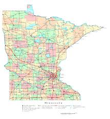 Map Of United States With Interstate Highways by Large Detailed Administrative Map Of Minnesota State With Roads