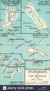 Columbus Map Map Of Guanahani Or San Salvador Showing Watling Island Where
