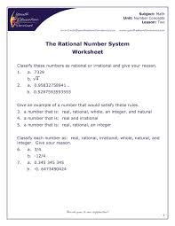 the number system worksheet free worksheets library download and