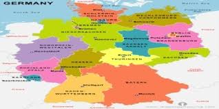 map of regions of germany germany