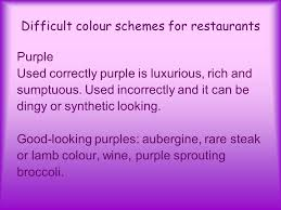 restaurant design so what makes up a good interior how do colour