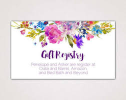 how do you register for wedding gifts gift registry card etsy
