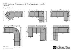 flexsteel sectional sofa flexsteel leather 3535 thornton sectional