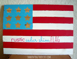 winsome diy rustic cedar shim flag easy patriotic home decor at