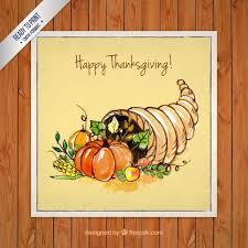 thanksgiving card vector free