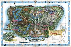 Bates College Map 1992 Euro Disneyland Souvenir Map Disneyland Paris Treasures