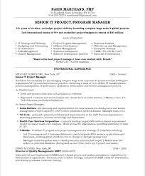 project management resume samples 2016 sample resumes