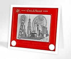 chicago skyline greeting cards gv and design