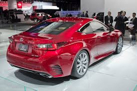 new lexus rc 350 shows off its red paint at detroit fooyoh
