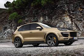 gold porsche convertible porsche cayenne turbo gets topcar vantage treatment in gold