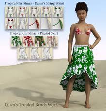 Christmas in July Dawn Beach Wear  RedEyeCat