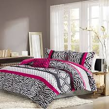 Girls Pink And Black Bedding by Bedding Set Kids Teen Comforter Pink Black White Zebra And Damask