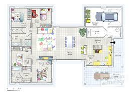 plan plain pied 4 chambres plan maison en bois plan gratuit maison bois plan maison bois plain